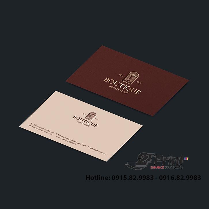 mẫu card visit khách sạn màu nổi bật