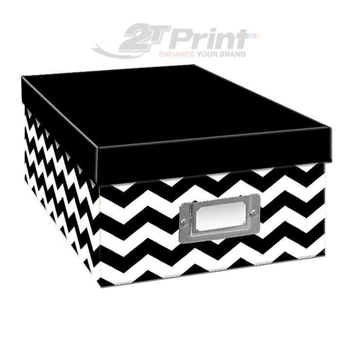 mẫu hộp giấy carton đựng phụ kiện oto đen trắng