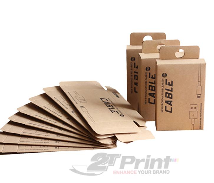 mẫu hộp giấy đựng phụ kiện điện thoại đẹp giâý kraft