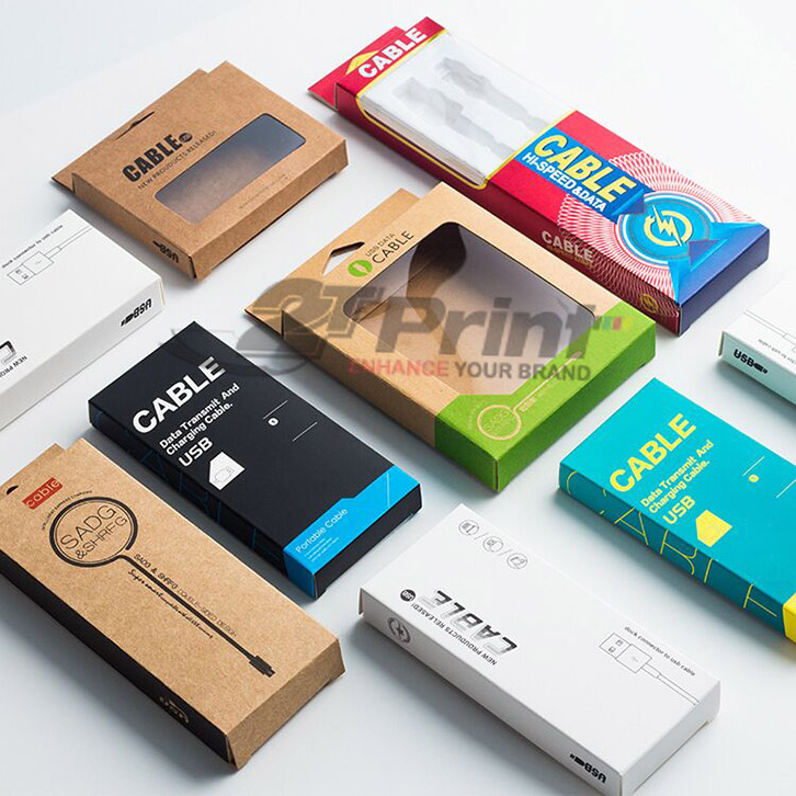 mẫu hộp giấy đựng phụ kiện điện thoại đẹp, đựng cáp sạc