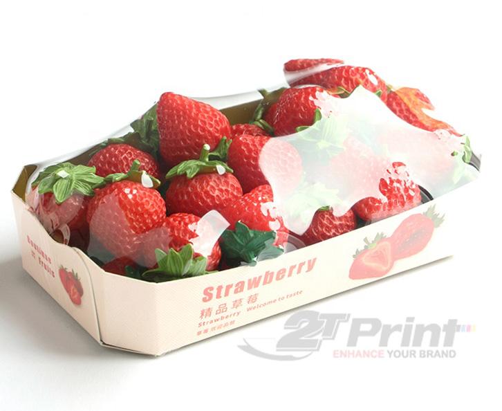 mẫu khay giấy đựng hoa quả tối giản