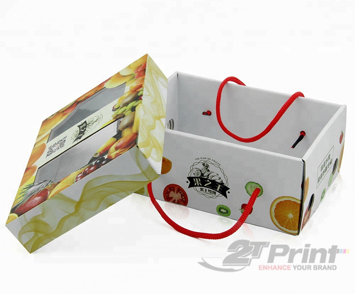 mẫu khay giấy đựng hoa quả đơn giản