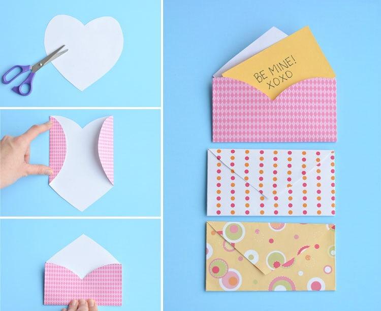 Làm phong bì thư hình trái tim dễ thương