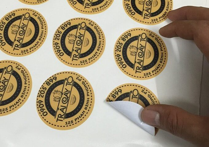 Các mẫu in tem nhựa đẹp nhất 2T đã thực hiện