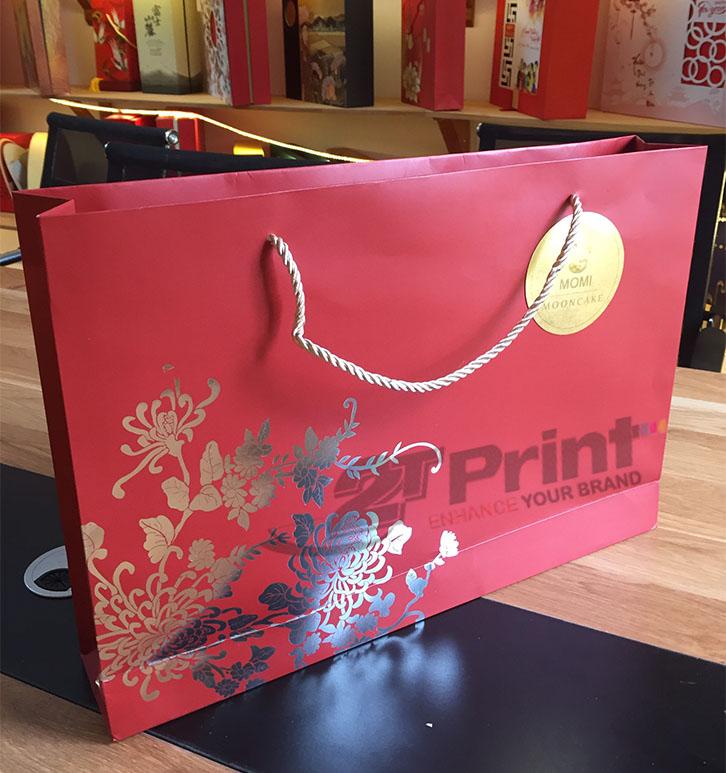 mẫu túi giấy đựng hộp quà tết, trung thu