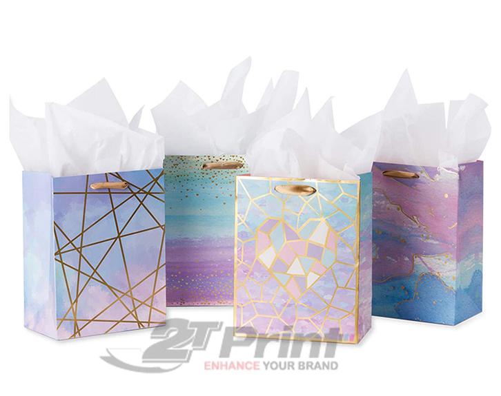 mẫu túi giấy đựng mỹ phẩm nhiều màu sắc