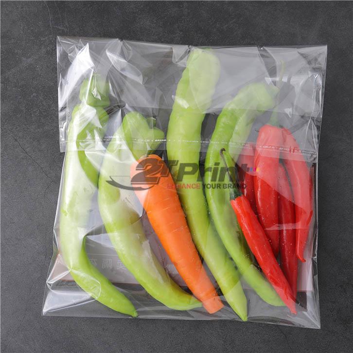 mẫu in túi nilon đựng rau sạch bảo quản thực phẩm