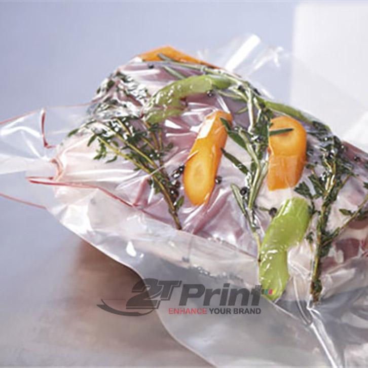 mẫu túi nilon đựng rau sạch quy cách in ấn đa dạng
