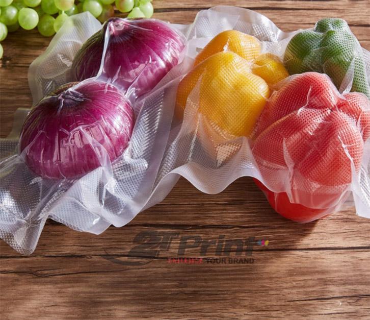 mẫu túi nilon đựng rau sạch tại 2TPrint