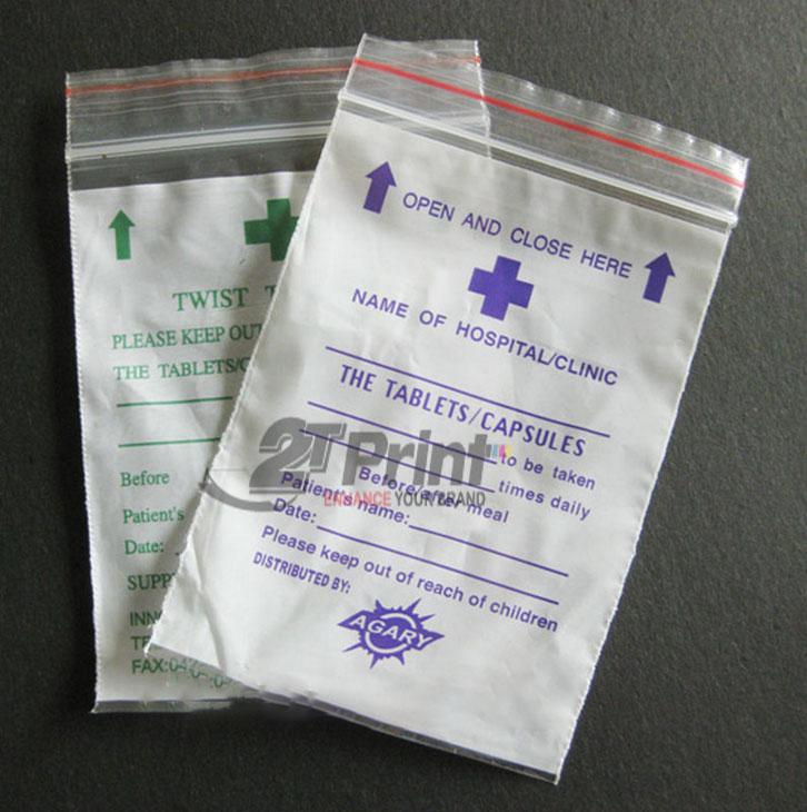 mẫu túi nilon đựng thuốc đa dạng