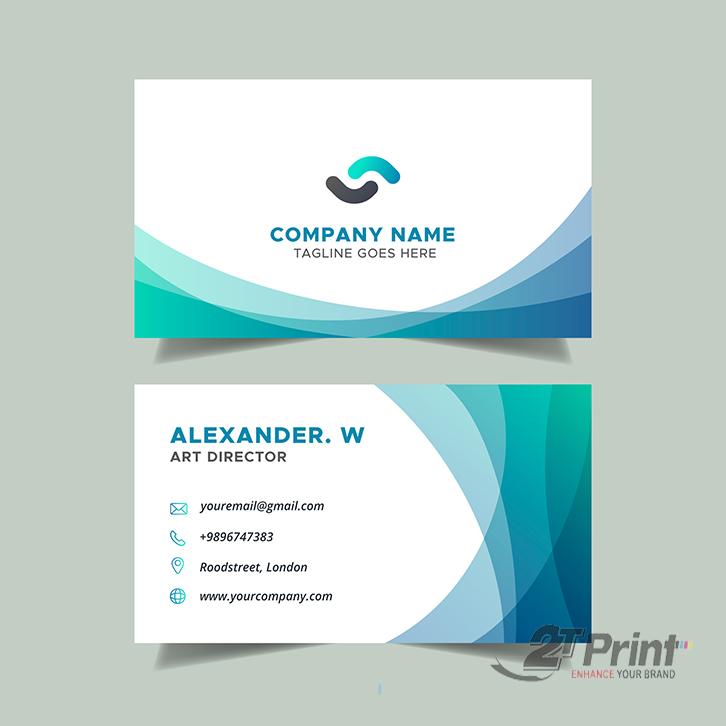 mẫu hình nền card visit đẹp doanh nghiệp xanh dương