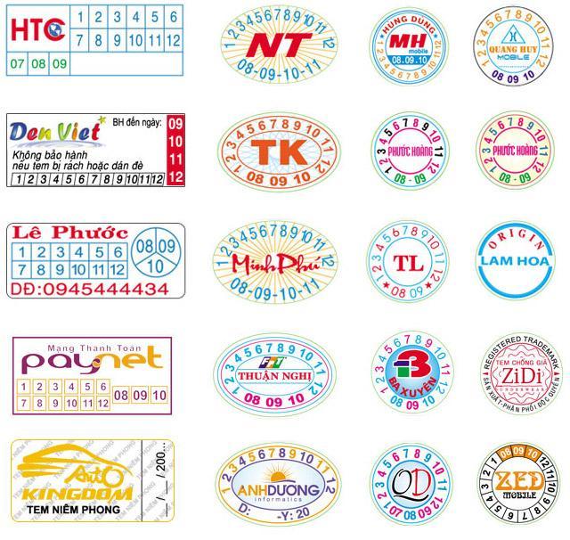 Một số mẫu tem vỡ sử dụng công nghệ cao do Xưởng in 2T đã thực hiện