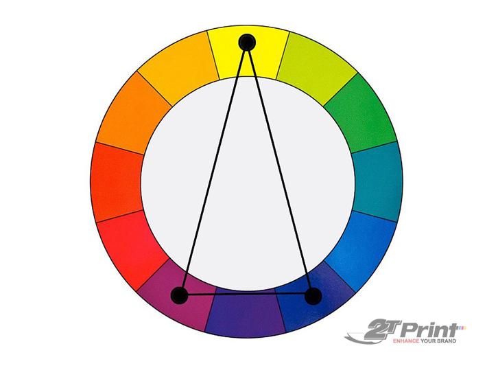 cách phối màu thiết kế bổ túc 3 màu
