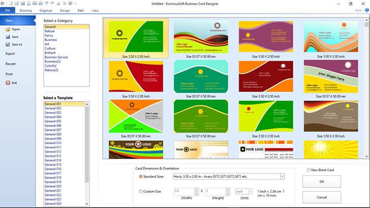 phần mềm thiết kế card visit Business Card Designer Pro