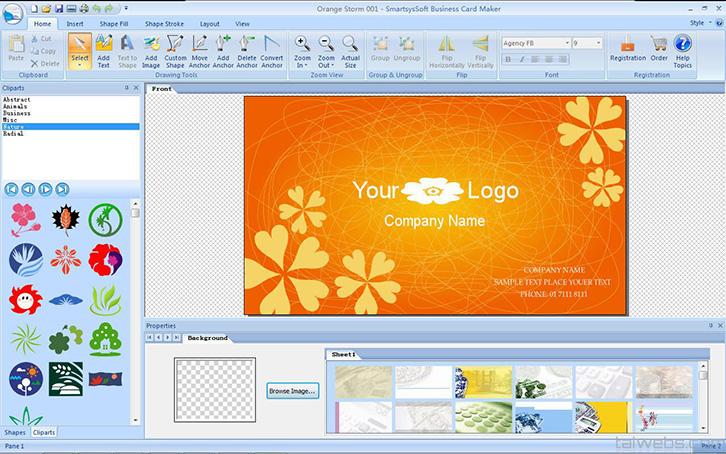 phần mềm thiết kế card visit online Business Card Maker