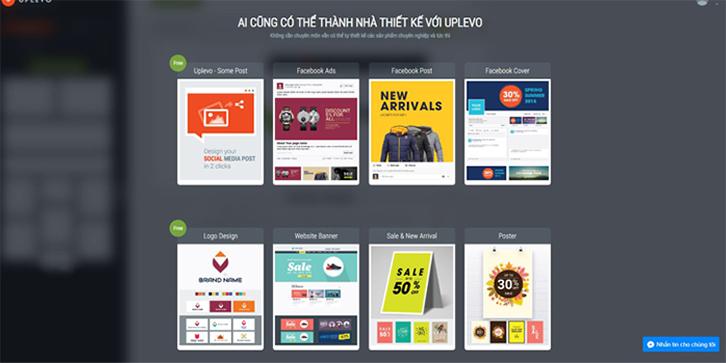 phần mềm thiết kế poster Upvelo