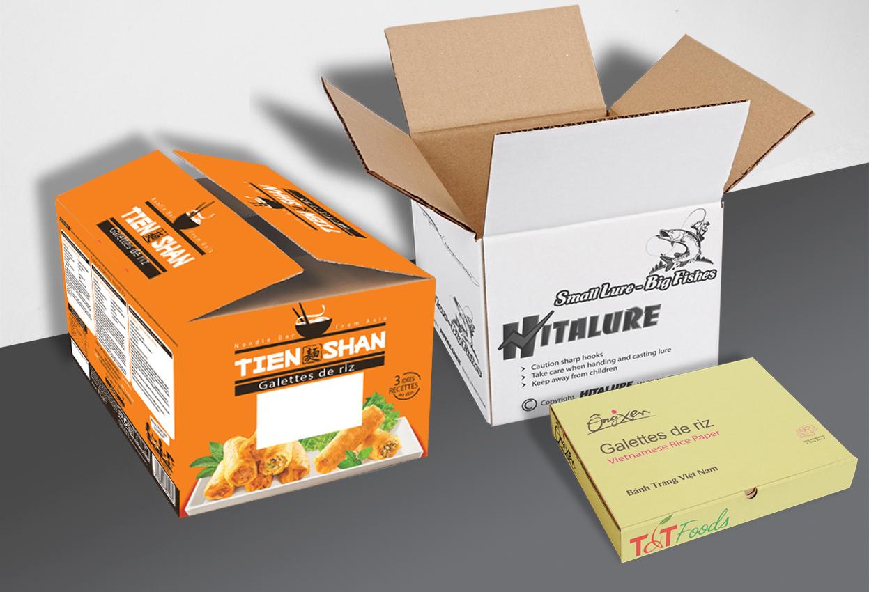 sản xuất thùng carton in offset