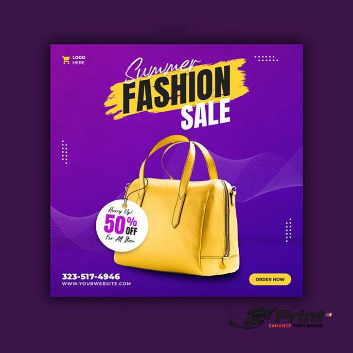 mẫu banner quảng cáo túi xách thời trang