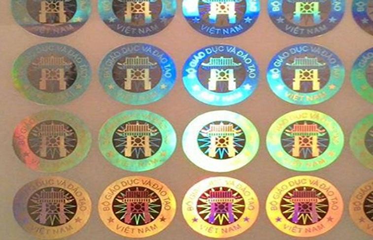Tem bảy màu bộ giáo dục tại 2T