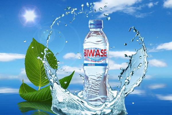 Tem nhãn nước tinh khiết đơn giản dễ in ấn.