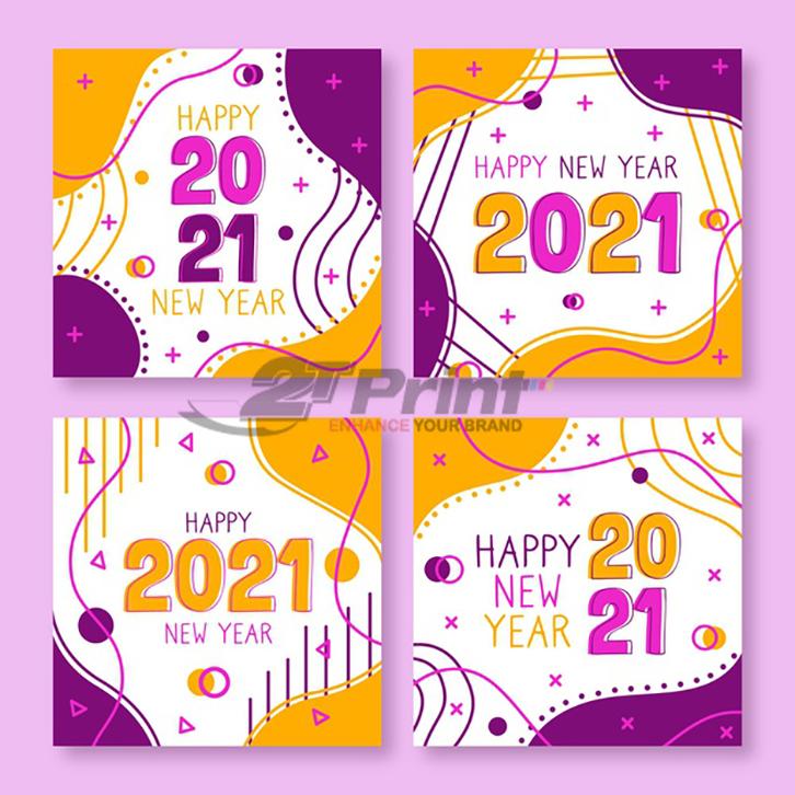 mẫu thiệp chúc mừng năm mới 2021 nhiều màu sắc