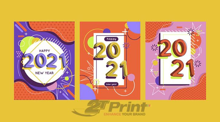 mẫu thiệp chúc mừng năm mới 2021 bắt mắt