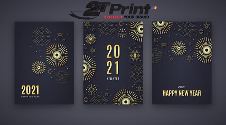mẫu thiệp chúc mừng năm mới 2021 sang trọng