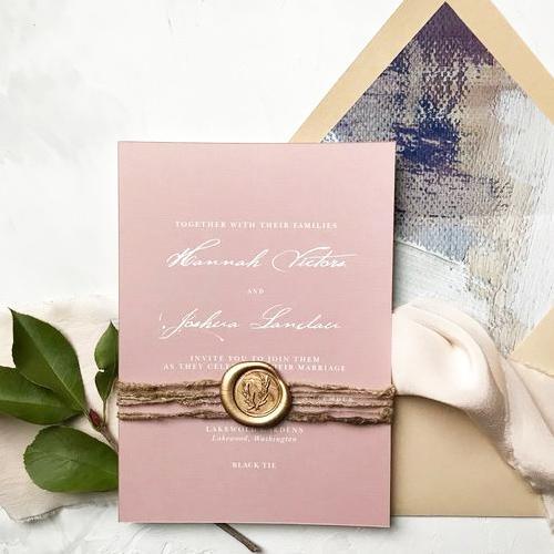 Thiệp cưới kiểu Wax Seal Stamp