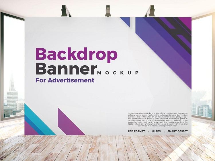Thiết kế quảng cáo cho Backdrop màu sắc hài hòa