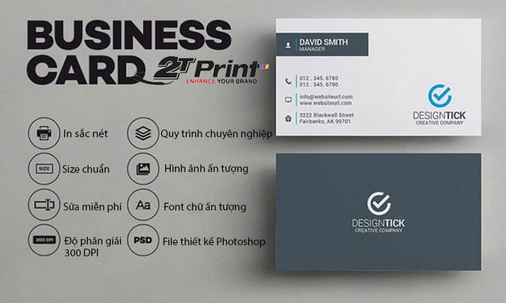 ưu đãi dịch vụ thiết kế card visit 2TPrint