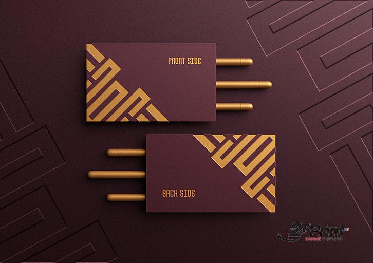 thiết kế card visit sang trọng