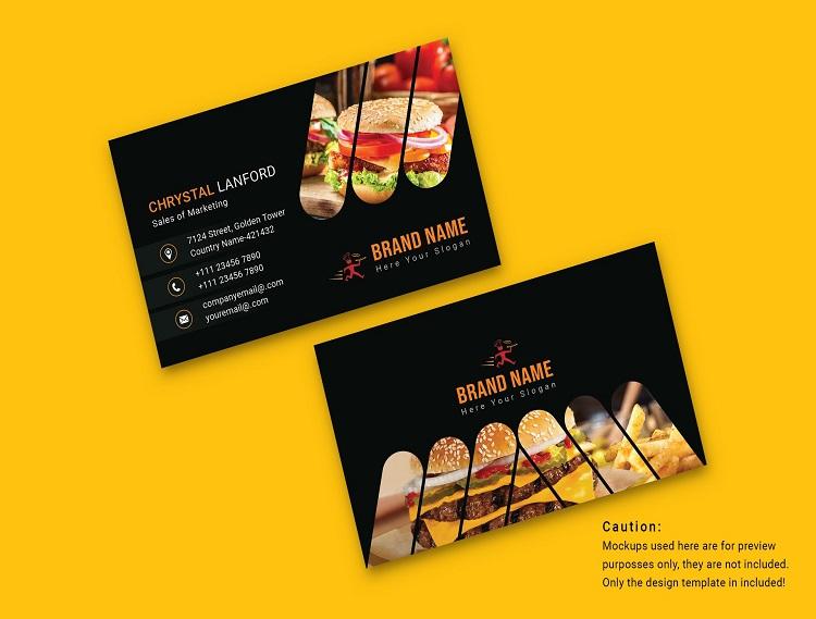 Mẫu card visit quán ăn sandwich