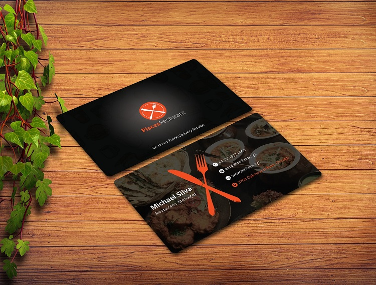Mẫu card visit quán ăn có vai trò quan trọng trong quảng bá thương hiệu