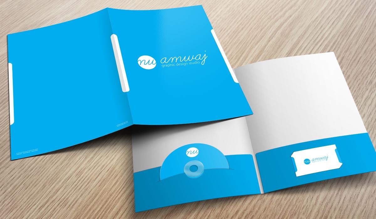 Folder có thiết kế đẹp sẽ nâng cao sự chuyên nghiệp của công ty bạn