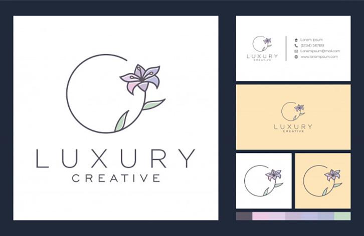 mẫu thiết kế logo spa đơn giản