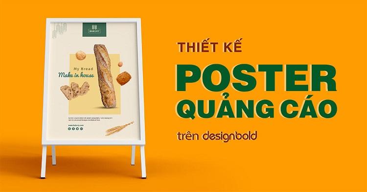 Thiết kế quảng cáo poster màu sắc hình ảnh độc đáo ấn tượng