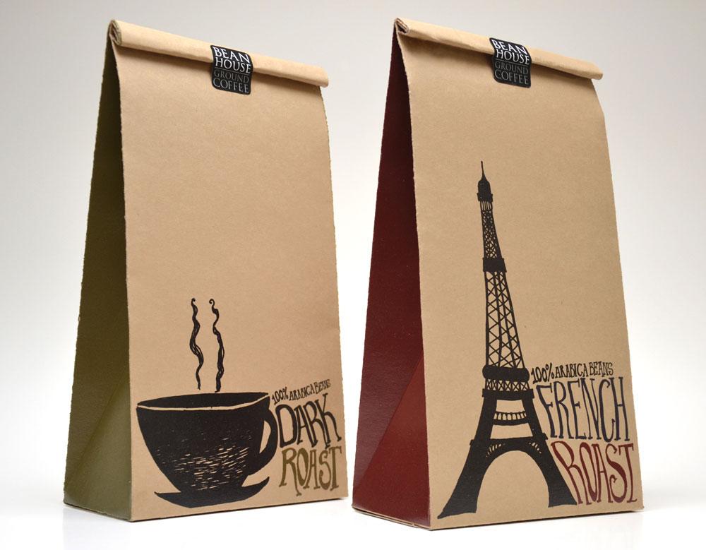 Túi giấy Kraft làm từ nguyên liệu tái chế