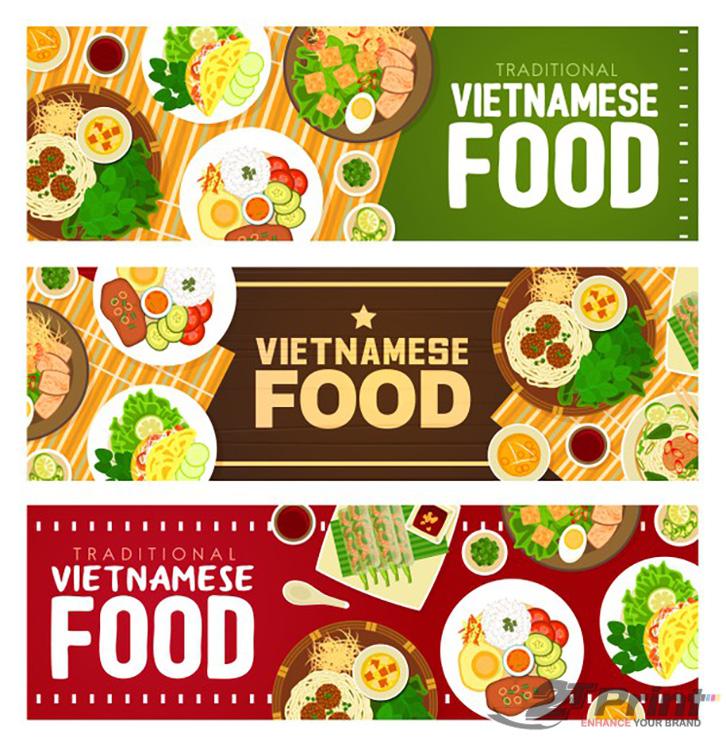 mẫu banner quảng  cáo ẩm thực Việt