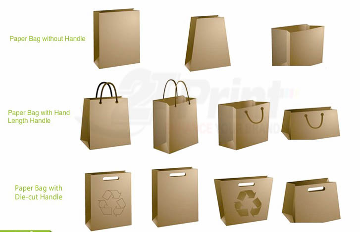 Các kiểu dáng của túi giấy
