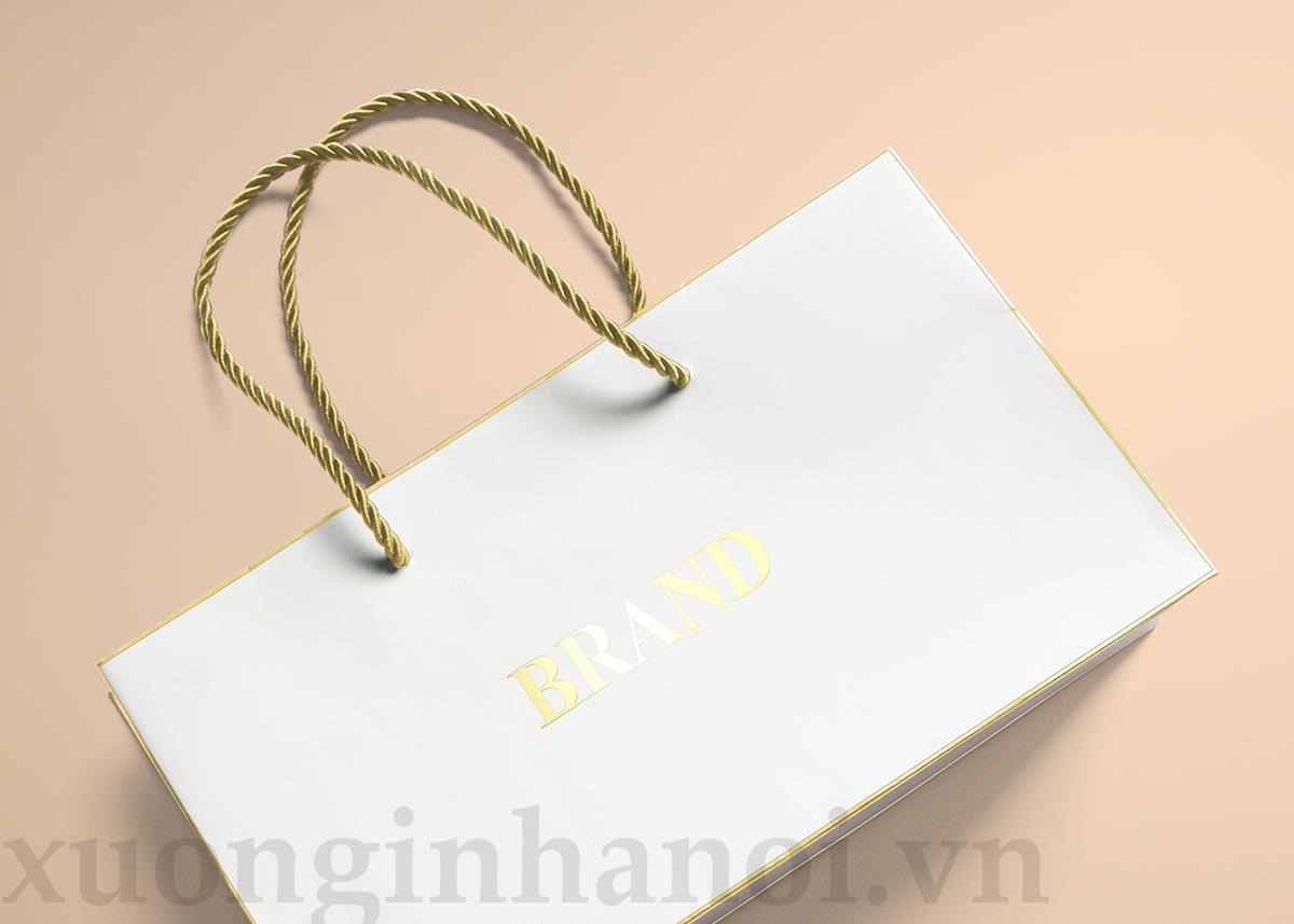 Túi giấy được ép nhũ vàng