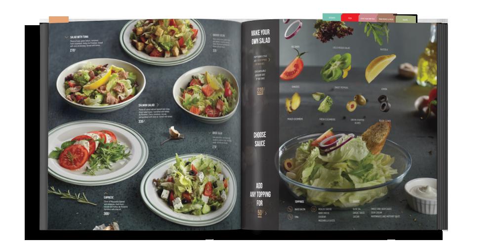 mẫu thiết kế menu nhà hàng