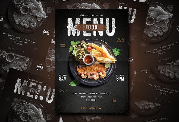 mẫu thiết kế bìa menu nhà hàng