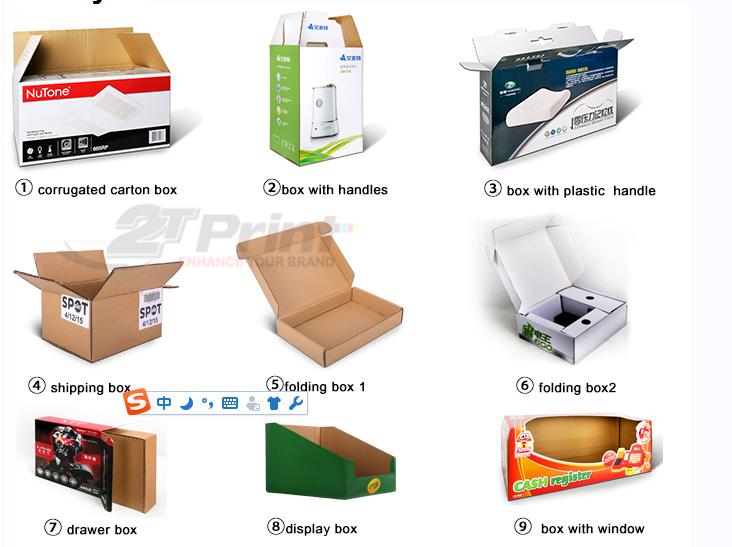 kiểu dáng thùng carton 3 lớp