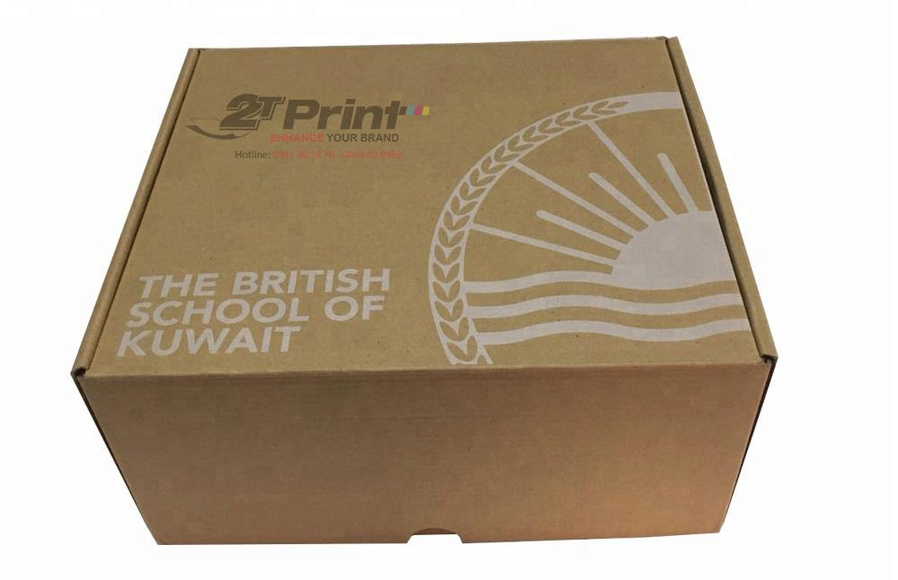 hộp kraft chất liệu carton