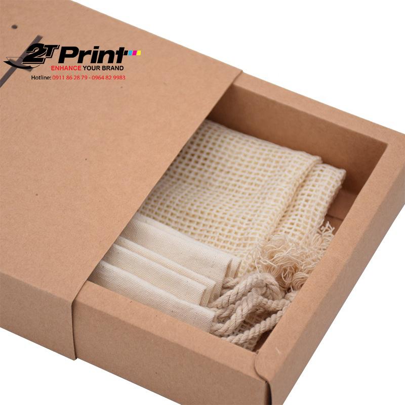 In hộp giấy kraft dạng kéo